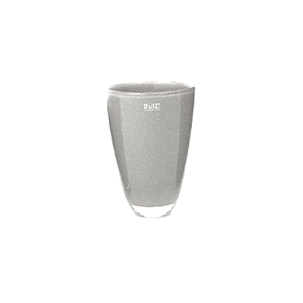 Collection DutZ ®  Vase, h 21 cm x Ø 13 cm, gris moyen