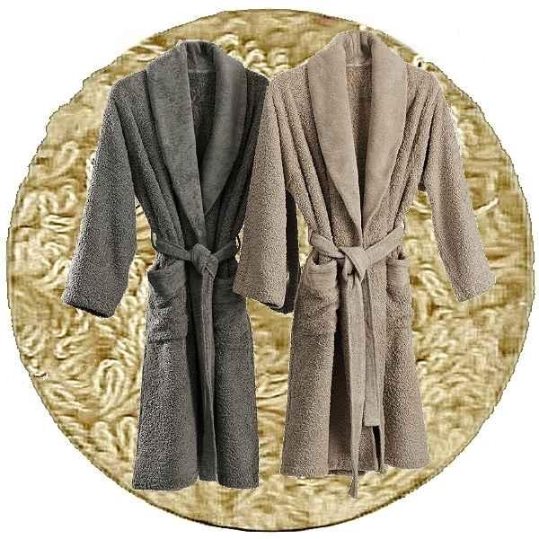 Abyss & Habidecor Super Pile Bademantel, 100% ägyptische Giza 70 Baumwolle, 700 g/m², Größe XL, 770 Linen