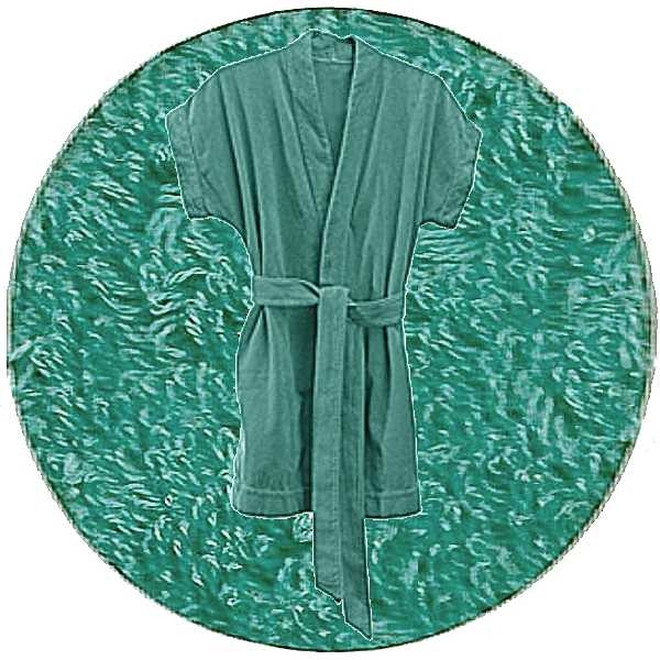 Abyss & Habidecor Summer Bath Robe, 100% Egyptian Giza 70 cotton, 350 g/m², Size M, 302 Lagoon