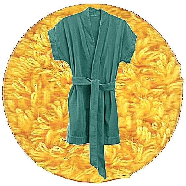 Abyss & Habidecor Summer Bath Robe, 100% Egyptian Giza 70 cotton, 350 g/m², Size S, 830 Banane