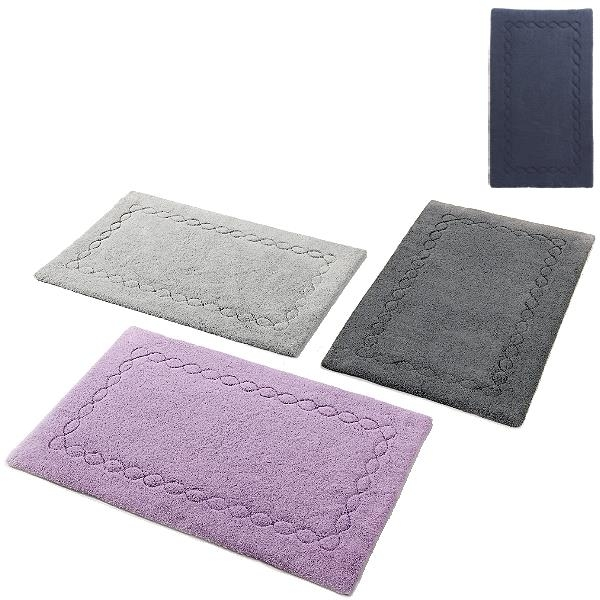 Abyss & Habidecor Bath Mat Kelly, 70 x 140 cm, 100% Egyptian Giza 70 cotton, combed, 332 Cadette Blue