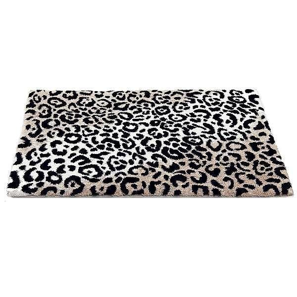 Abyss & Habidecor Bath Mat Leopard, 70 x 120 cm, 60% cotton, combed, 40% acrylic, 990 Black