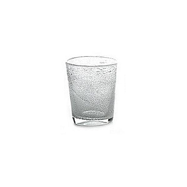 Collection DutZ ®  vase Conic avec des bulles, h 14 x Ø 12 cm, transparent