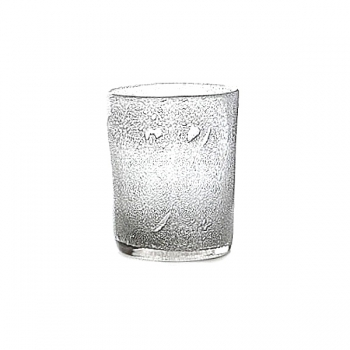 Collection DutZ ®  vase Conic avec des bulles, h 23 x Ø 20 cm, transparent
