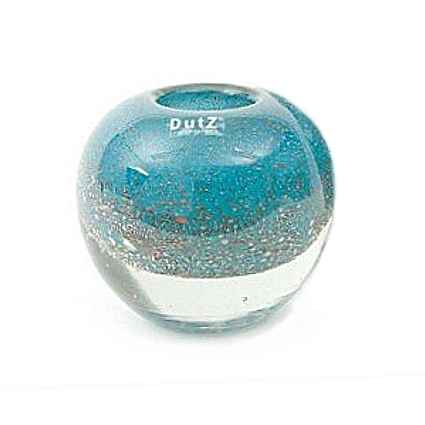 DutZ®-Collection Vase Bubble Ball, H 13,5 x Ø 13,5 cm, Blau Petrol