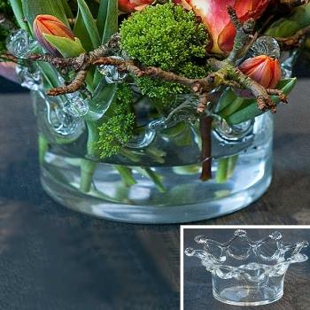 DutZ®-Collection Vase Crown, H 9 x Ø 14 cm, Klar