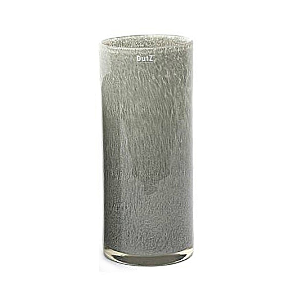 Collection DutZ ®  vase Cylinder, h 35 x Ø 15 cm, gris moyen