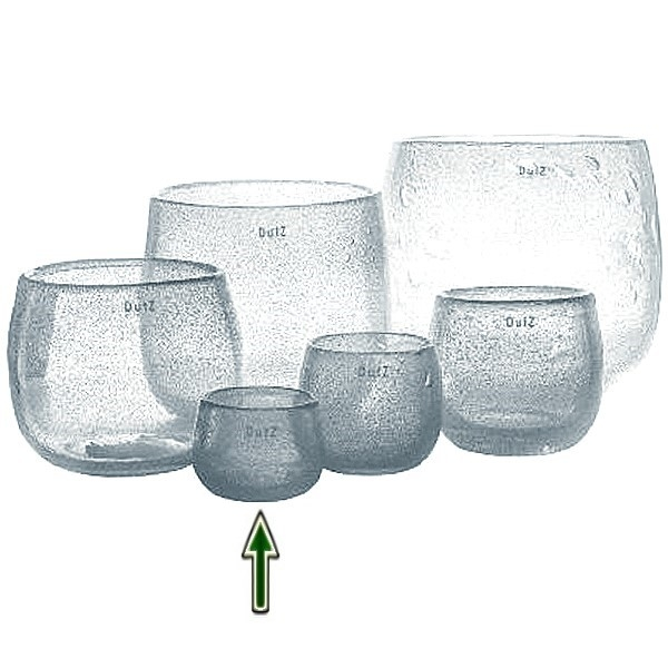 DutZ®-Collection Vase Pot Mini, H 7 x Ø 10 cm, Klar mit Bubbles