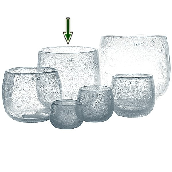 DutZ®-Collection Vase Pot, H 22 x Ø 25 cm, Klar mit Bubbles