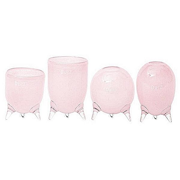 DutZ®-Collection Vasen-Set Evita, 4 versch. Dreifußvasen, H 12/14/15/16 x Ø 9,5 cm, Pink