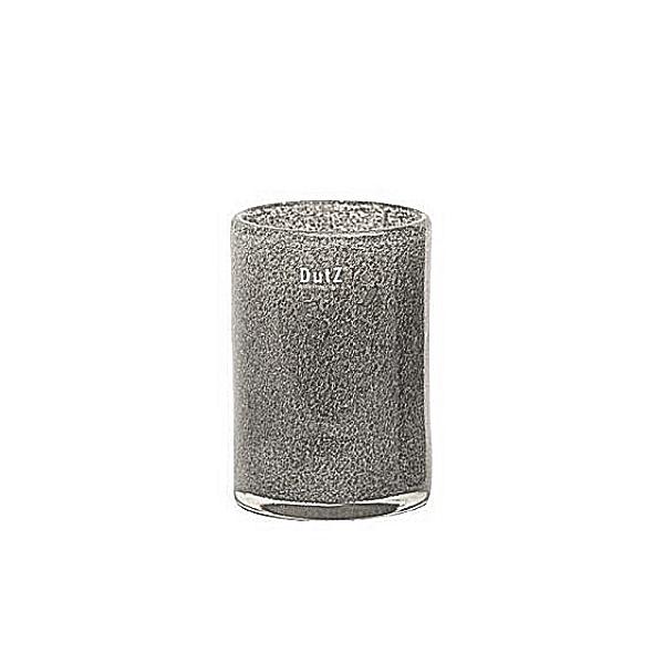 DutZ®-Collection Vase Cylinder, H 18 x Ø 12 cm, Mittelgrau mit Bubbles