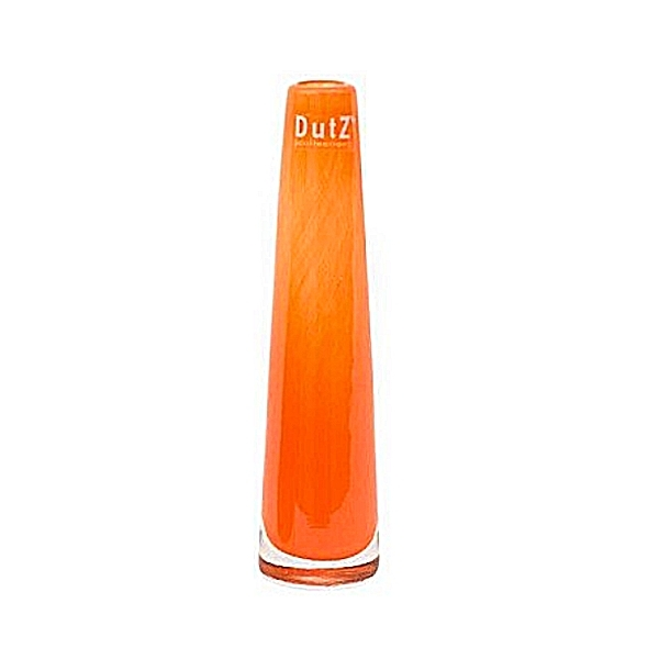 DutZ®-Collection Vase Solifleur, konisch, H 21 x Ø 6 cm, Orange