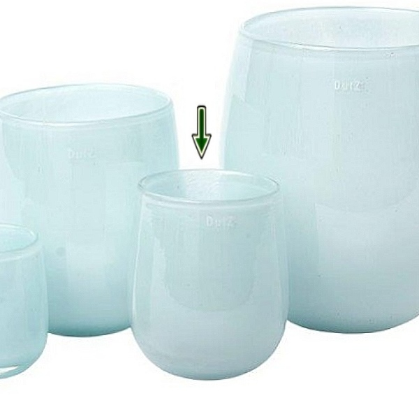 DutZ®-Collection Vase Barrel, H 18 x Ø 14 cm, Hellblau