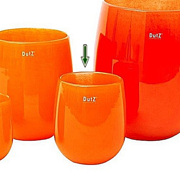 DutZ®-Collection Vase Barrel, h 18 x Ø 14 cm, orange