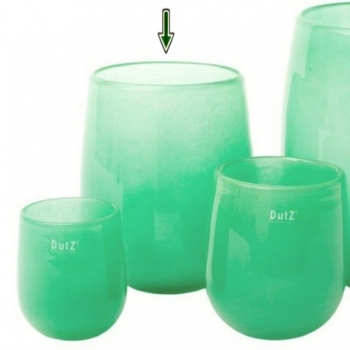 Collection DutZ® Vase Barrique, h 24 x Ø 18 cm, jade