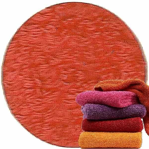 Abyss & Habidecor Super Pile Terry Cloth Guest Towel/Washcloth, 30 x 30 cm, 100% Egyptian Giza 70 Cotton, 700g/m², 590 Corail
