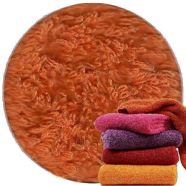 Abyss & Habidecor Super Pile Terry Cloth Guest Towel/Washcloth, 30 x 30 cm, 100% Egyptian Giza 70 Cotton, 700g/m², 605 Mandarin