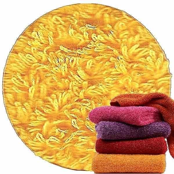 Abyss & Habidecor Super Pile Frottee-Gästetuch/Waschlappen, 30 x 30 cm, 100% ägyptische Giza 70 Baumwolle, 700g/m², 830 Banane