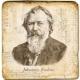 Marmorfliese, Motiv: Brahms,  Antikfinish,  Aufhängeöse, Antirutschfüßchen, Maße: L 20 x B 20 x H 1 cm