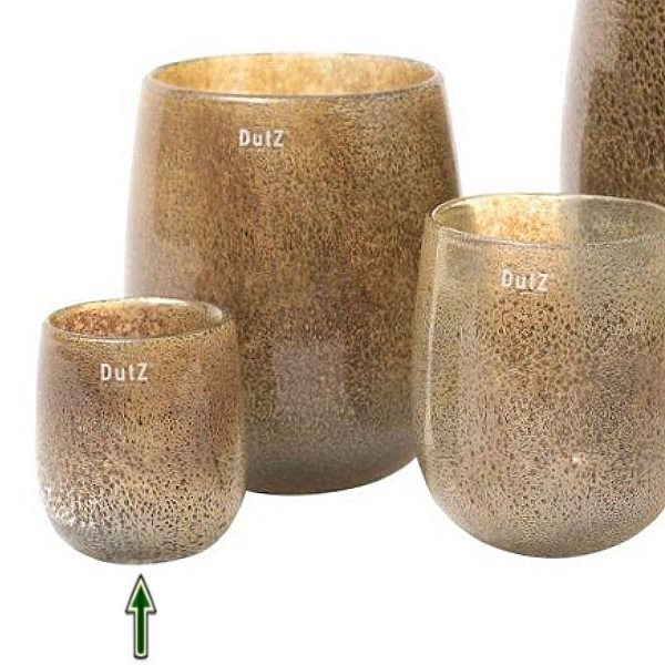 dutz collection vase barrel h 13 x 10 cm silber braun. Black Bedroom Furniture Sets. Home Design Ideas