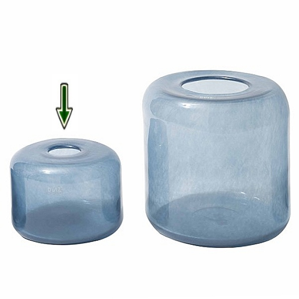 dutz collection vase mira h 17 x 23 cm stahlblau 107073. Black Bedroom Furniture Sets. Home Design Ideas