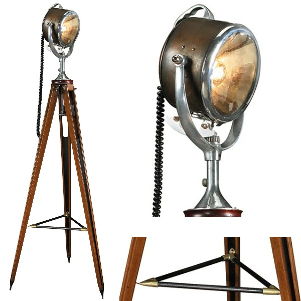 stativ stehlampe suchscheinwerfer bronz messing alu glas holzstativ mahagonif mess antik. Black Bedroom Furniture Sets. Home Design Ideas