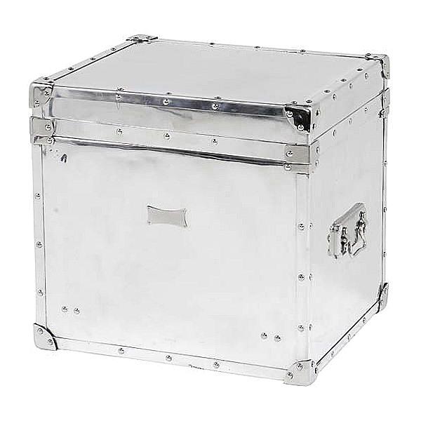 eichholtz trunk table aluminium polished h 54 x w 58 x d 51 cm 102895. Black Bedroom Furniture Sets. Home Design Ideas