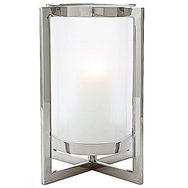 eichholtz windlight hurricane beluga l nickel frosted glasss w 36 x d 36 x h 46 cm glass 22. Black Bedroom Furniture Sets. Home Design Ideas