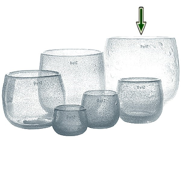 dutz collection vase pot h 26 x 30 cm clear with. Black Bedroom Furniture Sets. Home Design Ideas