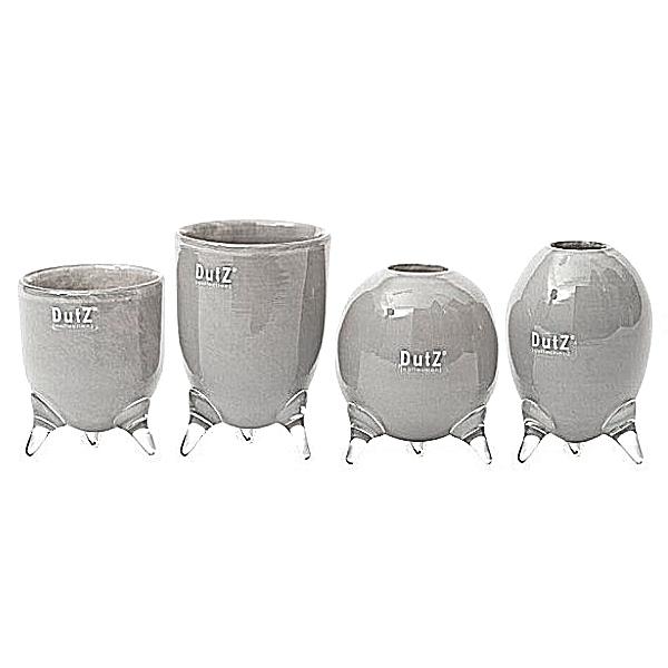 dutz collection vasen set evita 4 versch dreifu vasen h 12 14 15 16 x 9 5 cm mittelgrau. Black Bedroom Furniture Sets. Home Design Ideas