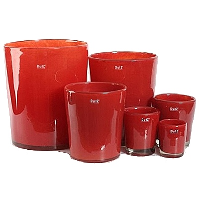 dutz collection vase conic h 17 x 15 cm farbe rot 101582. Black Bedroom Furniture Sets. Home Design Ideas