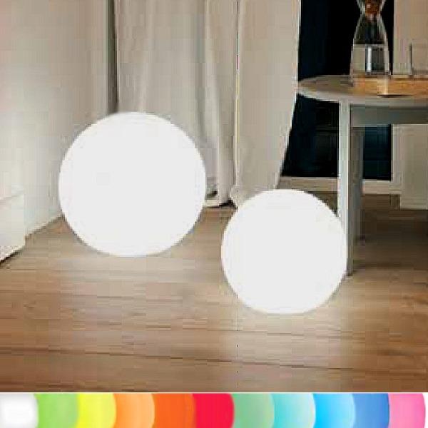8 seasons design leuchtobjekt kugel wei 40 cm indoor outdoor led farbw fernbed ce. Black Bedroom Furniture Sets. Home Design Ideas