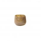 DutZ®-Collection Vase Pot Mini, H 7 x Ø 10 cm, Silber/Braun mit Bubbles