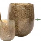 DutZ®-Collection Vase Barrel, h 32 x Ø 27 cm, silver/brown with bubbles