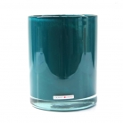 Henry Dean Vase/Windlicht Cylinder, H 16,5 x Ø 13,5 cm, Teal
