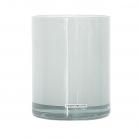 Henry Dean Vase/Windlicht Cylinder, H 16,5 x Ø 13,5 cm, Weiß