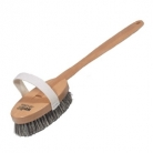 Bath and massage brush, steamed beech wood with smooth horsehair and strong plant fibre, length 43 cm