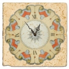 Wall ClockMarble Tile Emblem, antique finish, hanger, l 20 x w 20 x h 1 cm