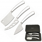 Cheese Knife Set Latte Vivo Nuovo, trad., hard cheese, soft cheese knife, forged Jap. steel, gift box, Dimensions: l 25 x w 15 x h 3 cm