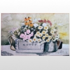 Doormat Garden Flowers, easy-care, machine washable up to 30° C