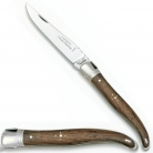 Couteau de poche classique Laguiole, manche en bois de rose et inox, L 12 cm, lame 10 cm