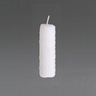 Collection DutZ® bougie cylindrique, h 20 x Ø 7 cm, Colori: blanc