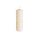 Collection DutZ® bougie cylindrique, h 20 x Ø 7 cm, Colori: blanc cassé