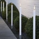 Outdoor candle torches, set of 4, color: ivory, Dimensions: h 80 x Ø 4 cm, material: paraffin, burning time: ca. 36 h