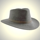Fedora felt hat, Grey, Size XL, 60/61 cm, cowhide band outside/cotton band inside, waterproof, crushable, dimensionally stable