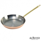 de Buyer, Pan, round, 90% copper, 10% stainless steel, solid brass handle, Ø 30 cm