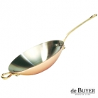 de Buyer, Wok, 90% copper, 10% stainless steel, solid brass handles, Ø 32 x h 6 cm