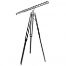 Eichholtz Telescope with Tripod, magnification x 7, tripod black wood with nickel fittings, h 170 x Ø 65 cm