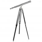 Télescope avec trépied, nickel, gross. 7-fois, trépied bois noir/ nickel, h 170 cm x Ø 65 cm