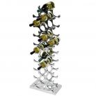 Eichholtz Wine Rack for 27 bottles, solid aluminium, polished, w 28 x h 103 x d 15 cm